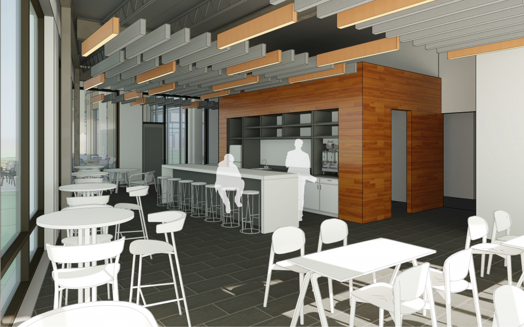 Bell Laboratories Break Room Rendering