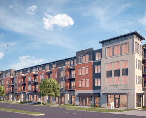 Sugar Creek Commons - Exterior Rendering