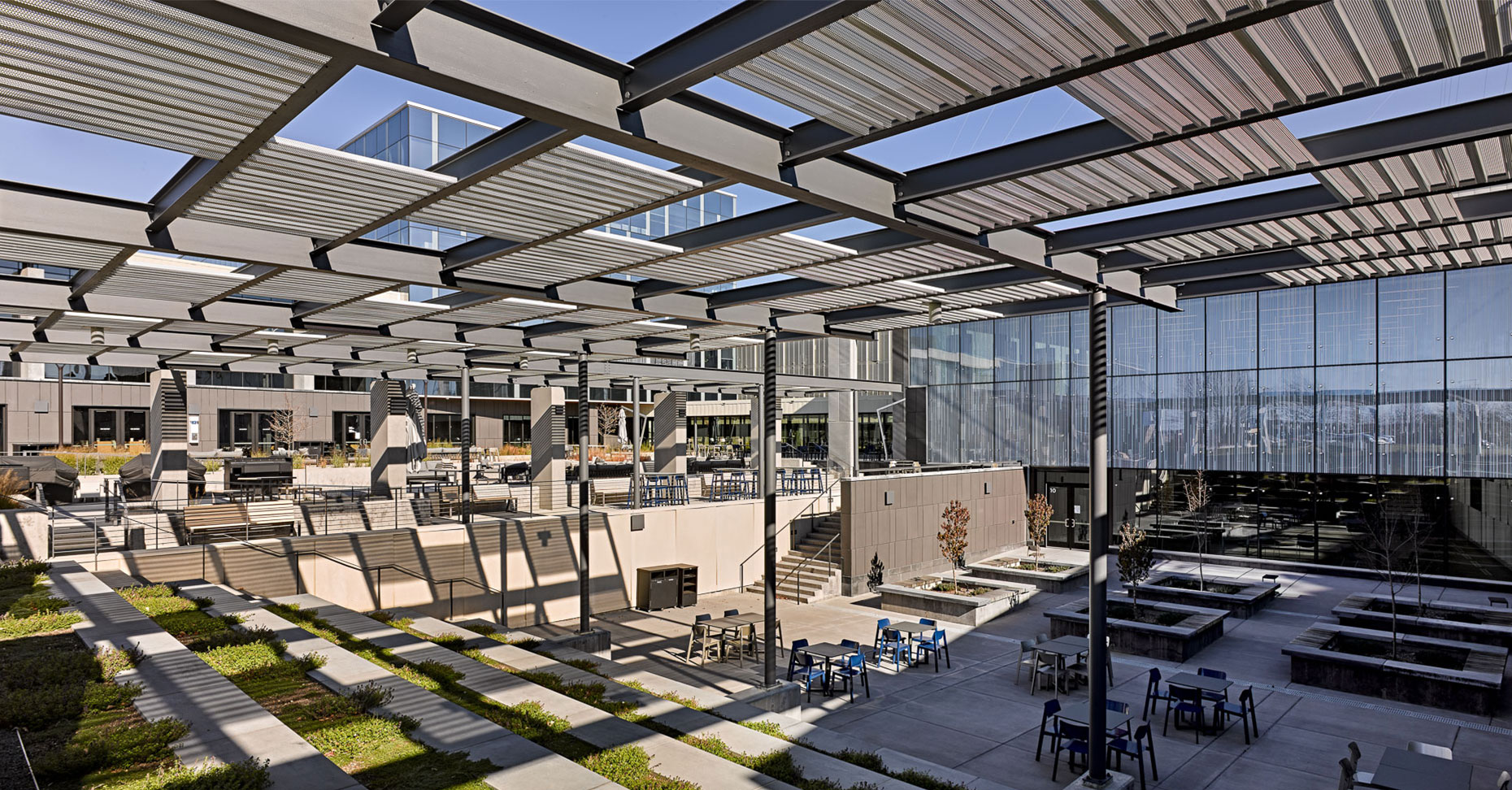 exact sciences exterior courtyard space