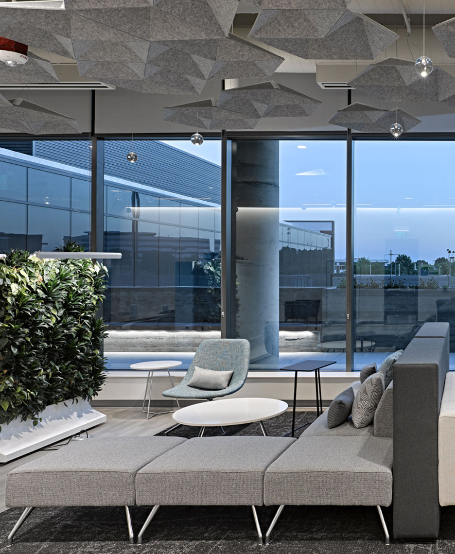 exact sciences amenities building moveable green wall