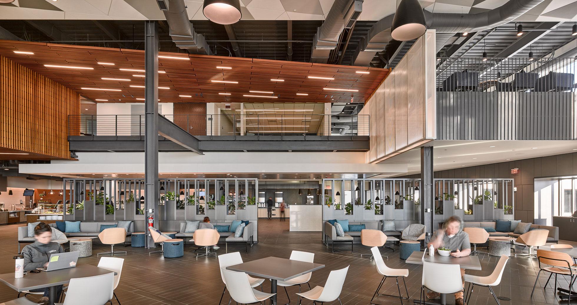 exact sciences work cafe interior design madison wi