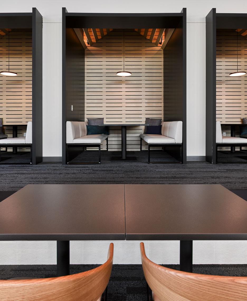 work cafe nook exact sciences amenities